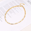 Feminine Classic 16 Inches 18k Gold Plated Link Chain Choker Necklace For Women And Girl