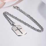 Cross Dog Tag with Joshua 1:9 Engraving For Men & Women