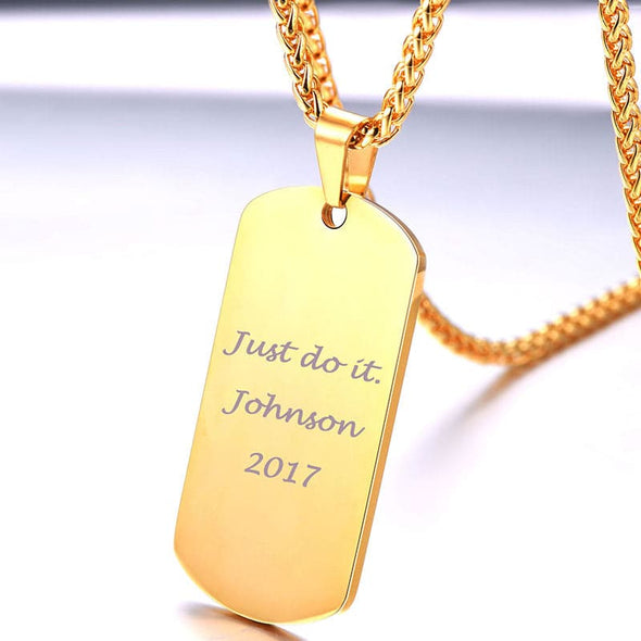 Personalized Men Jewelry Stainless Steel Customized Dog Tag Necklace Birthday Gift for Him Jewelry