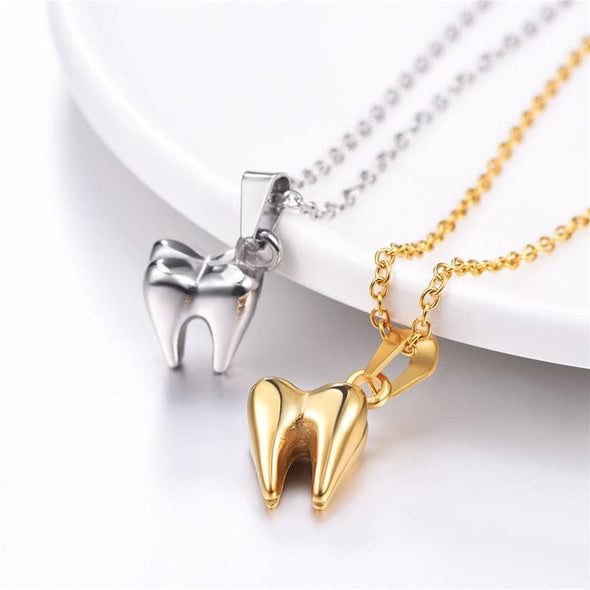 Simple Mini Cute Handmade Dental Tooth Necklace Dentist Jewelry Gifts