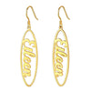 Personalized Dangle Name Earrings Drop Hoop Jewelry Gift For Women