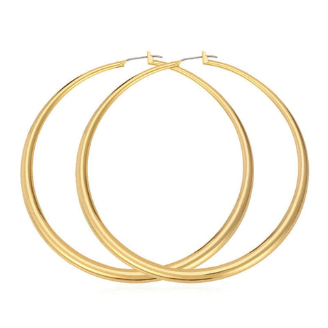 40mm/60mm/80mm Big Earrings Gold/Platinum Plated Round Large Size Hoop Earrings for Women