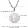 Gold Plated Saint Benedict Round Medal Necklace Pendants Catholicism Jewelry