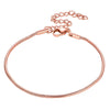 Classic 1.5mm Wide Thin Round 316L Stainless Steel, 18K Gold/Rose Gold/Black Plated Snake Chain Bracelet For Men And Women