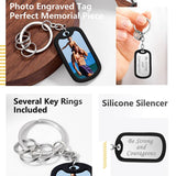 Personalized Photo Engraving Dog Tag Keychain