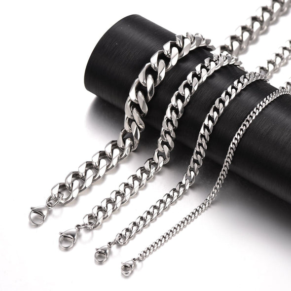 Cuban Link Chain Gold Chain For Men Chunky Curb Necklace 3/6/9/12MM