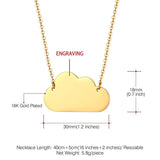Personalized Cloud Choker Necklace Custom Name Pendant Lucky Jewelry