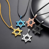 Jewish Jewelry Magen Star of David Pendant Necklace Men Stainless Stee
