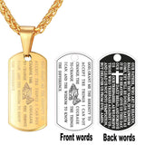 Praying Hands Necklace 316L Stainless Steel Cross Prayer Jesus Chains & Pendants For Men