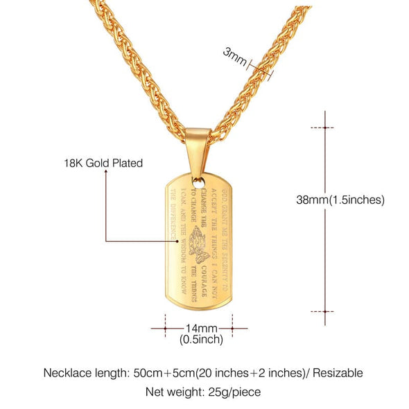 Size of bible dog tag