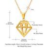 Diamonds Wireframe Necklace Three-dimensional Dodecahedron Charm Jewelry