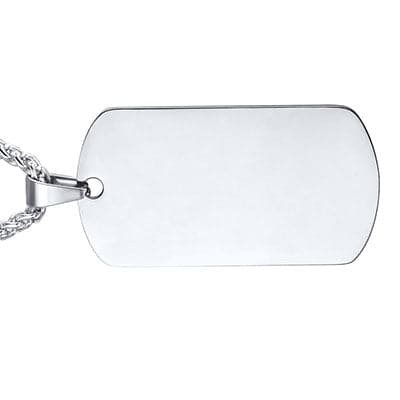 Engravable Dog Tag Necklace Custom Name ID Personalized Design Men Jewelry