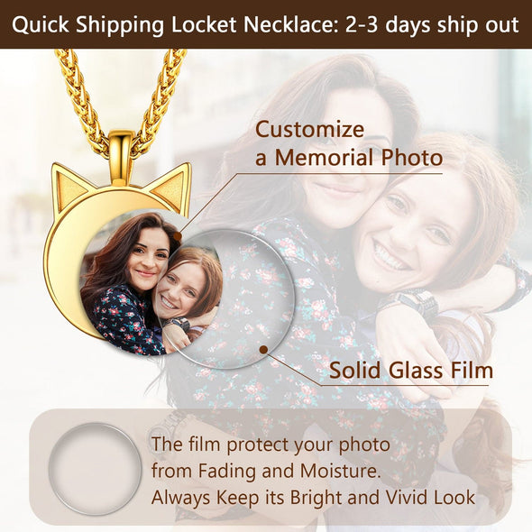 Personalized Disc Convex Engravable Custom Photo Pendent Necklace