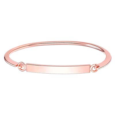 Dainty Engraved Custom Name ID Date Personalized Openable Bangle