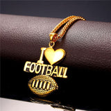 RIO 2016 Olympics Football Pendant Charms Necklace