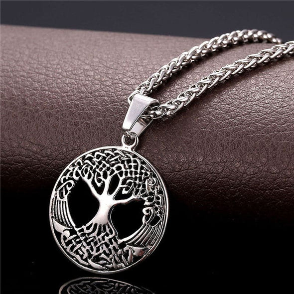 Novelty Jewelry Hollow Tree of Life Pendant Necklace Gold Plated Lucky Necklace Men/Women