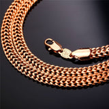 Hiphop Gold Chain For Men Jewelry18K Gold Plated 6 MM Wide Mesh Link Chain Necklace