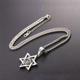 Megan Star of David Necklace Gold Evil Eyes Hexagram Jewish Jewelry