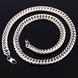 Big Chunky HipHop Gold Chain For Men 18K Gold Plated Thick Stainless Steel Long Necklace