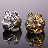Punk American Bully Pitbull Ring 316L Stainless Steel Dog Jewelry