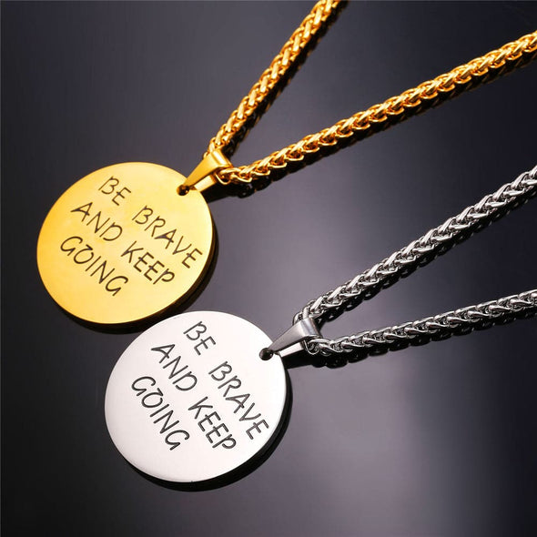 Personalized Engravable Round Disc Pendant Necklace For Men Women