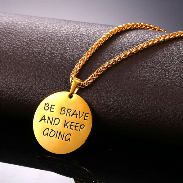 Customize Engravable Round disc Pendent Necklace For Men Women