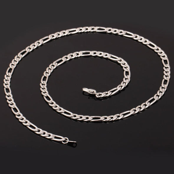 Gold chain for men and women classic punk 316L stainless steel 18K gold/black plated 5mm wide chunky figaro chain necklace bracelet set