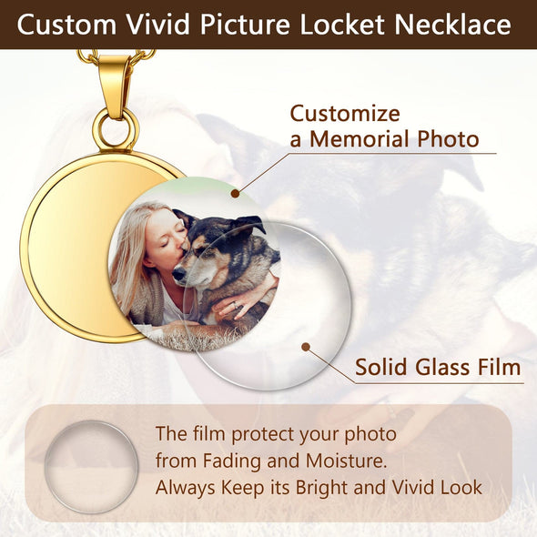 Personalized Photo Cremation Urn Necklace Memorial Keepsake Jewelry