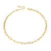 Dainty Feminine Link Chain Choker Necklace For Women Girls 18K Gold Plated