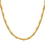 U7 Chain Necklace Men Jewelry Gold Plated Stainless Steel Chains For Pendant