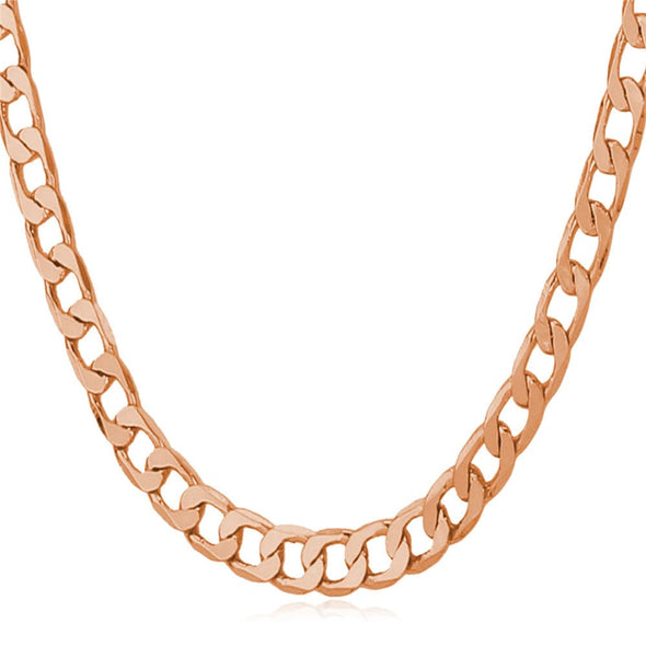 Cuban Link Chain 18K Gold Plated Classic Curb Necklace Men Boy Teen Jewelry