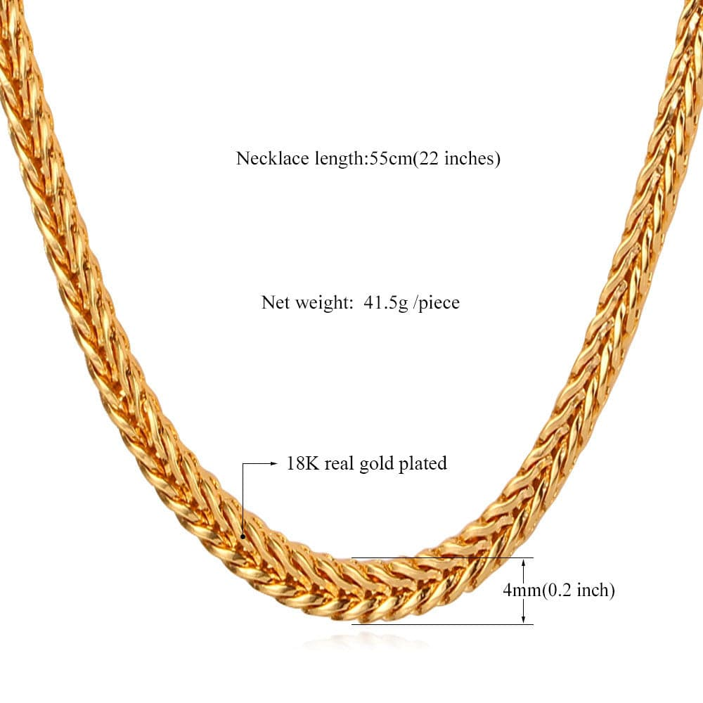 halukakah plated landing with free gold alligator real pendant necklace kings fishtail chain