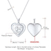 Heart Photo Locket Necklace Custom Engraving Text Personalized Jewelry