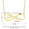 Personalized Classic Infinity Style Name Necklace with Birthstone
