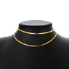 18k Gold Plated 3mm Wide Flat Snake Chain Choker Necklace