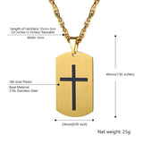 Personalized Custom Engraving Cross Dog Tag In Stainless Steel