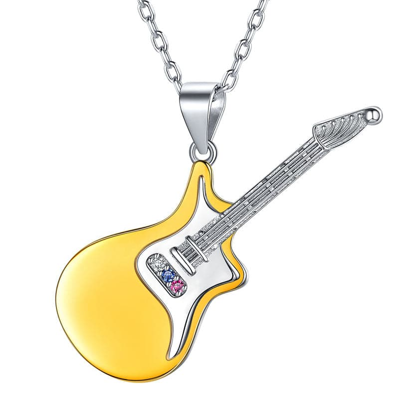 Guitar neck music silver 925  Necklace pendant  Jewelry