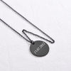 Custom Personalized Engraving Round Plate Disk Necklace Coin Necklace