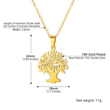 Floral Family Tree Of Life And Tree Of Soul Pendant Necklace For Women