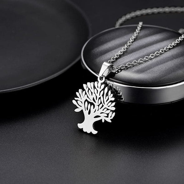 Floral Family Tree Of Life And Tree Of Soul Pendant Necklace For Women 316L Stainless Steel