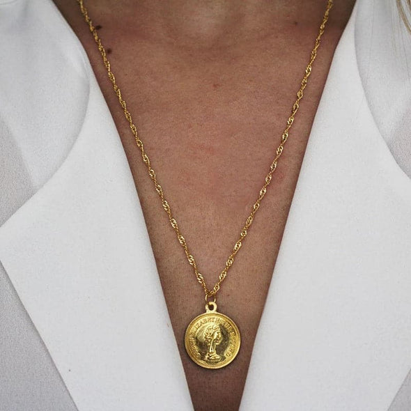 essential gold plated water wave chain