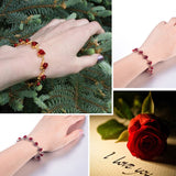 Red Rose Flowers Wrist Charm Bracelets Valentine's Day Gift For Women