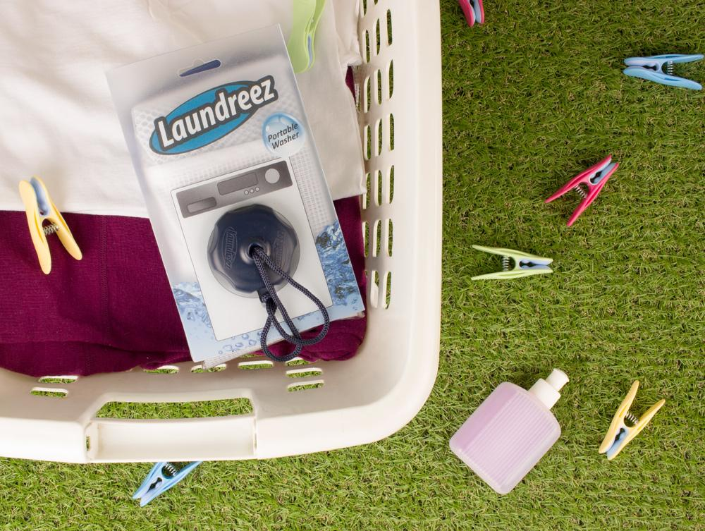 the portable clothes washer for the smart traveller. Laundreez