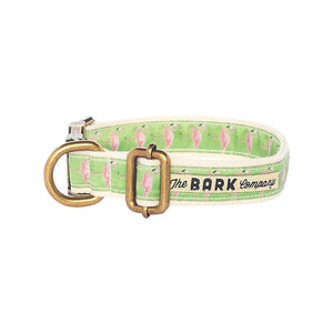 Flamingos dog collar - The Bark Co. Handmade dog Collar