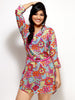 Loco En Cabeza Multi printed georgette 3/4 sleeve Dress   CZWD0002