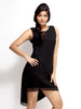 Loco En Cabeza Black Sleeveless Short Dress   CZWD0016
