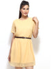 Loco En Cabeza Beige Short Sleeve Short Dress   CZWD0019