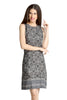 Loco En Cabeza Printed Sleeveless Printed Rayon dress   CZWD0085