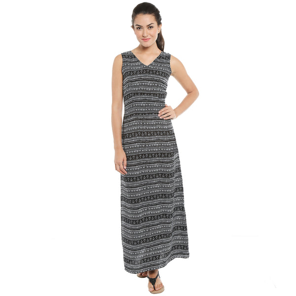 Loco En Cabeza Printed Sleeveless dress CZWD0093