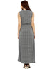 Loco En Cabeza Black Printed Sleeveless Long Dress CZWD0098